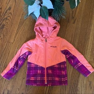 Columbia sportswear hooded fleece lined jacket 3T